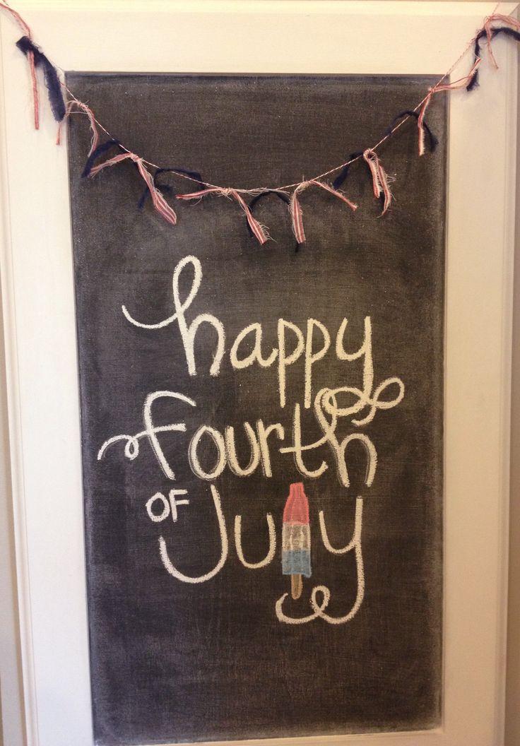 fourth of july chalkboard art