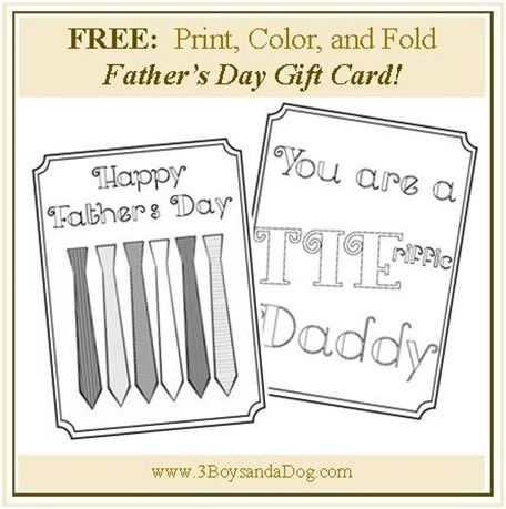 free printable fathers day cards to make