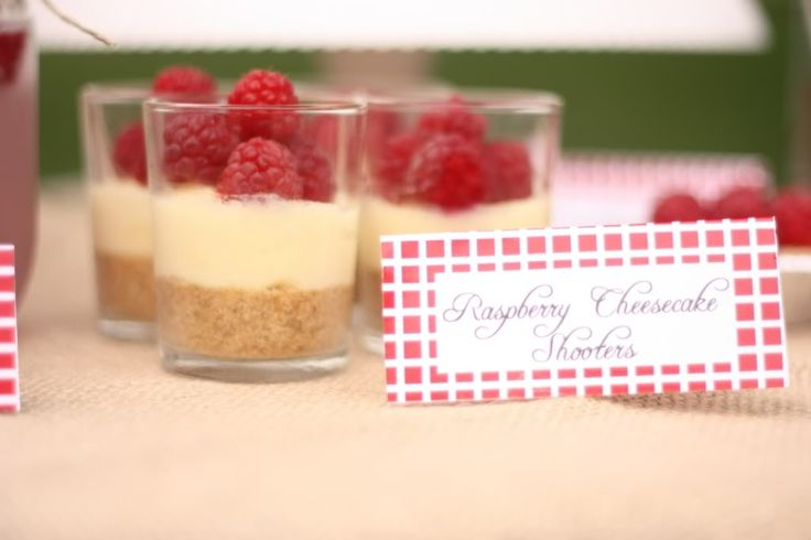 cheesecake shooters | Showers and Parties | Pinterest