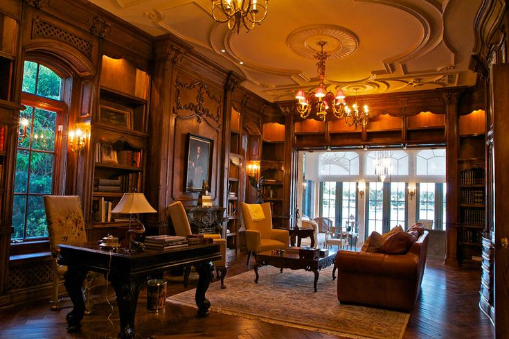 Miami luxury home library my brownstone pinterest for My luxury home