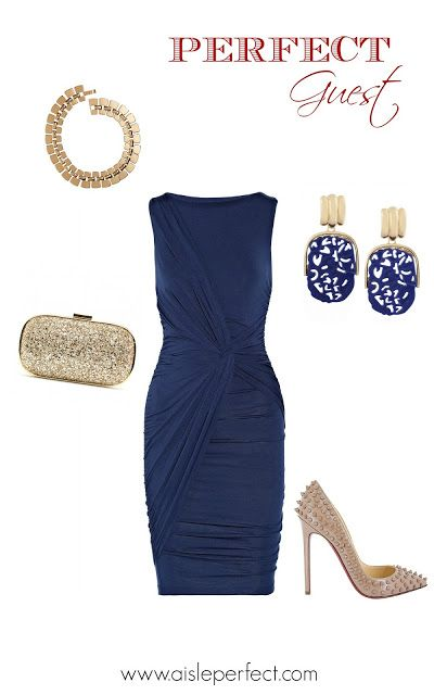 Blue Wedding Guest Outfit Inspiration | Aisle Perfect | Pinterest
