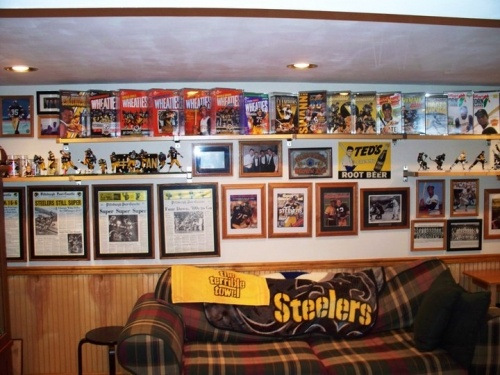 Man Cave Ideas Football : Nfl football man cave ideas design image nifty