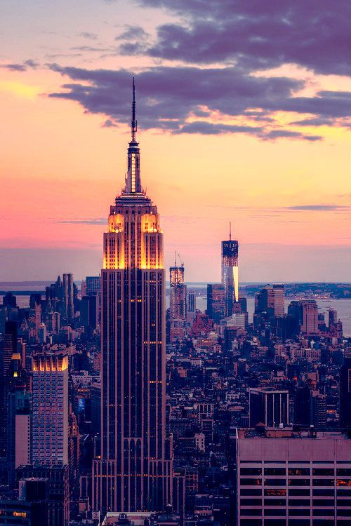 empire state building sunset - photo #1
