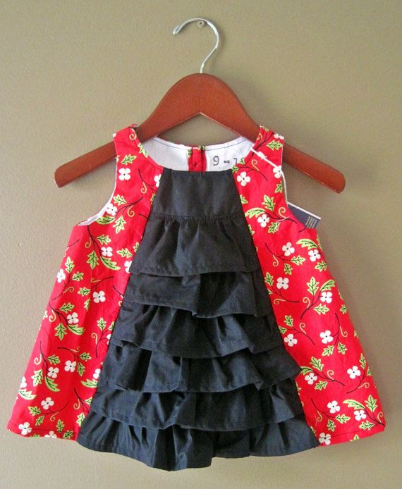 Ruffle front christmas dress size 9 12 months