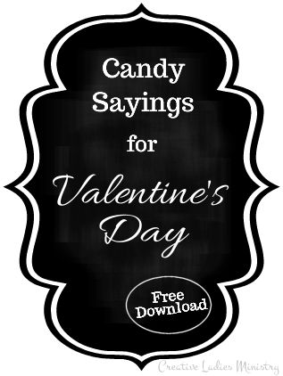 valentine s candy sayings and puns creative ladies ministry