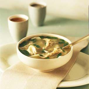 Feel like having a giant bowl of wonton soup for dinner today