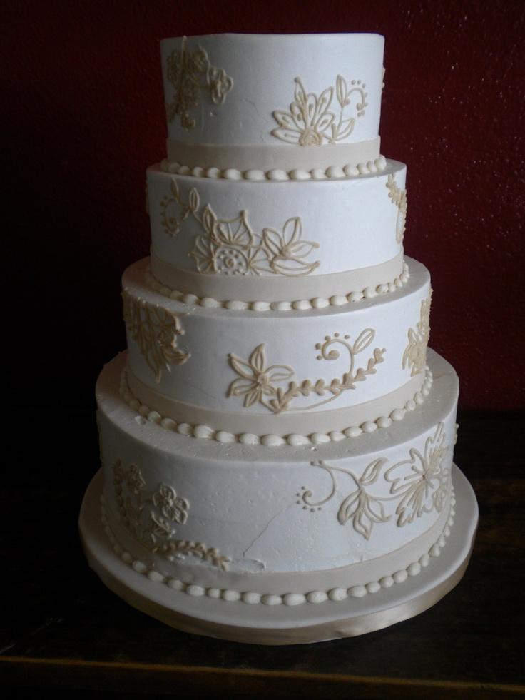 Lace Style Wedding Cake Wedding Cakes Pinterest
