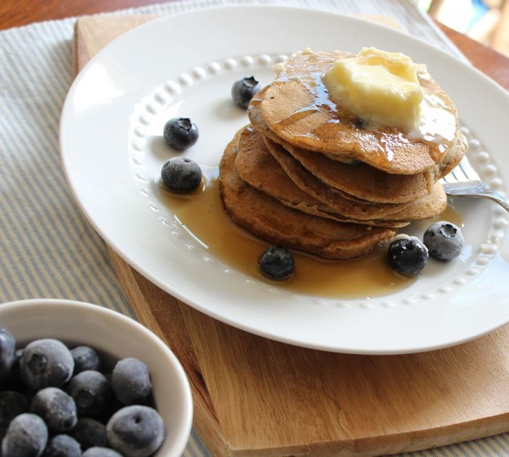 Whole wheat blueberry pancakes! | Top o' the Morning to ya | Pinterest