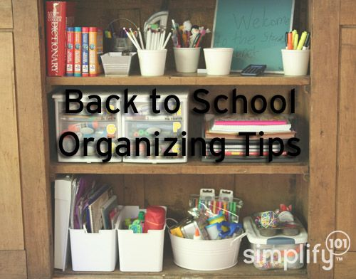 Back-to-school organizing tips