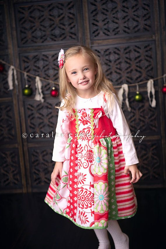 Girl s christmas whimsy knot dress from mellon by mellonmonkeys 56