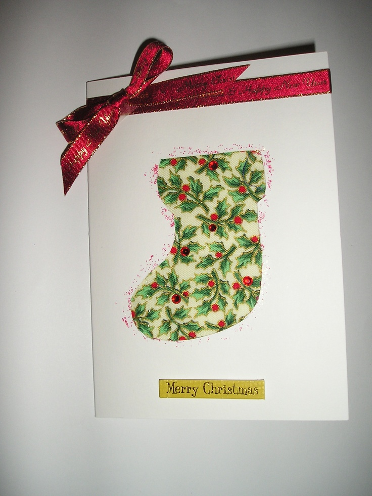 Christmas stocking card | Handmade cards by me | Pinterest