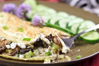 Mushroom, Green Onion and Goat Cheese Egg White Omelet — Recipe from ...