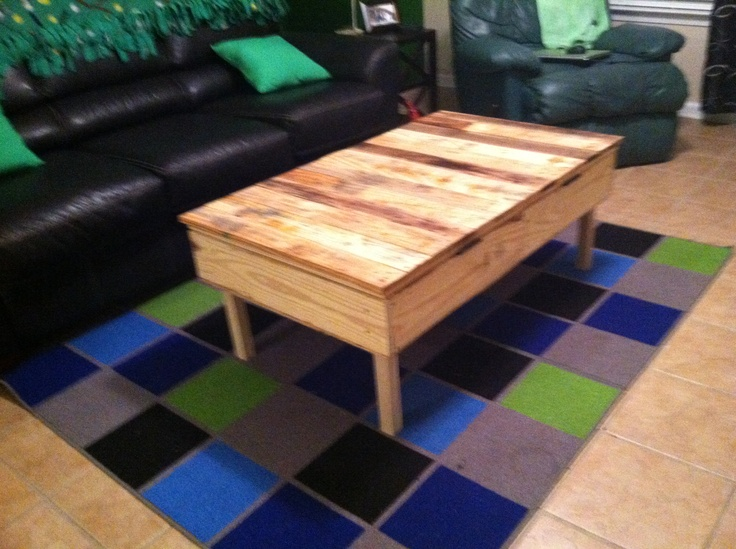 My New Coffee Table Made Out Of Pallets Crafts Pinterest