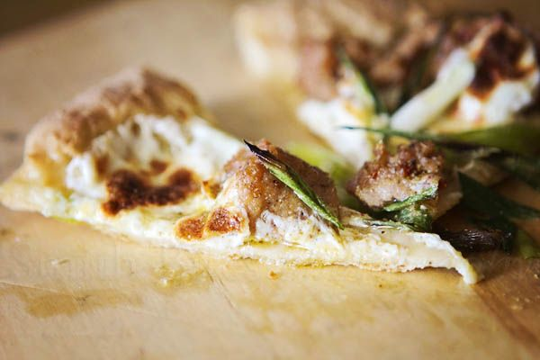 Gluten-Free Pizza With Sausage, Cream And Scallions Recipe ...