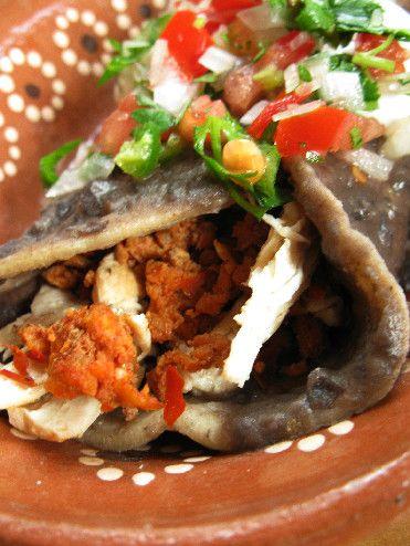 Black Beans: Enfrijoladas with Chicken & Chorizo.