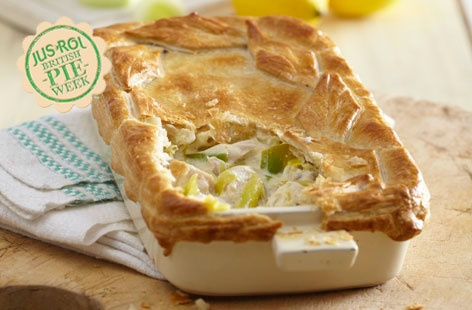 Chicken, leek and lemon pie | Recipe