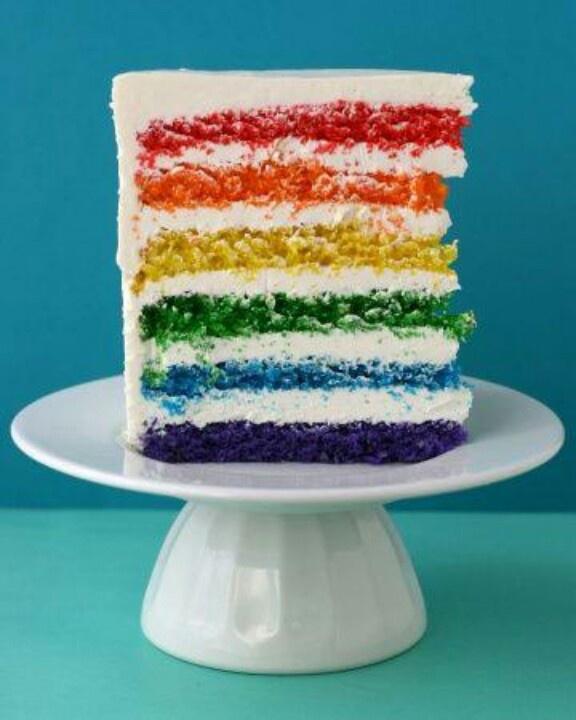 Rainbow Layer cake | Heavenly Sweet | Pinterest