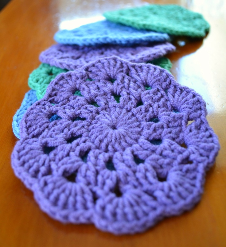 Knitted Coasters Free Patterns : Crochet coasters free pattern To-Do List Pinterest