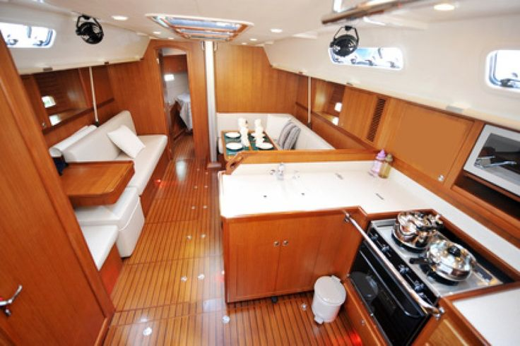 boat interior kitchen design boats sea pinterest