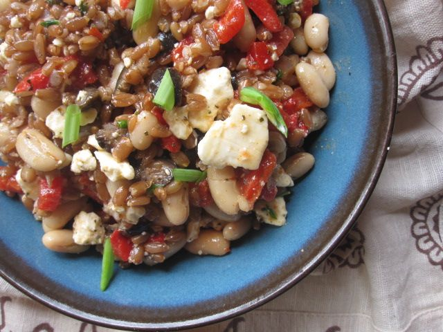 Stirring the Pot: Farro and Roasted Pepper Salad with Smoky Paprika ...
