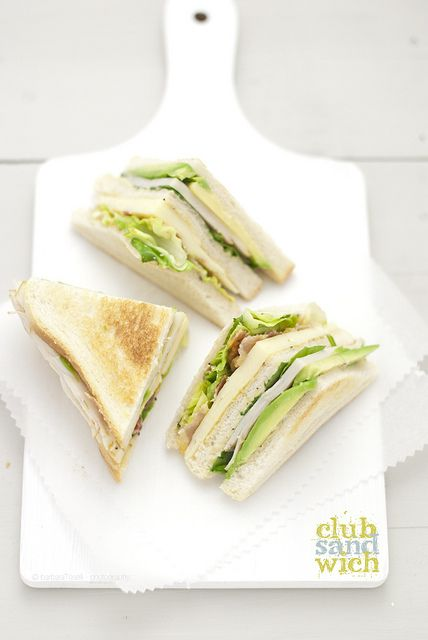 Club sandwich | Food For The Soul | Pinterest