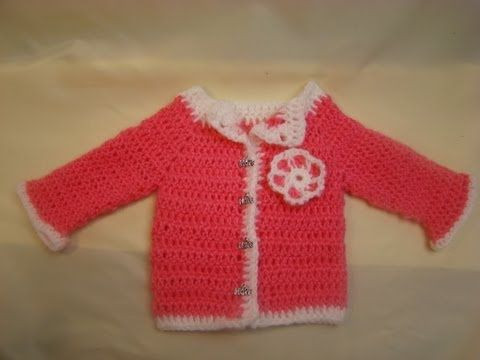 Crochet Preemie Sweater Tutorial - YouTube
