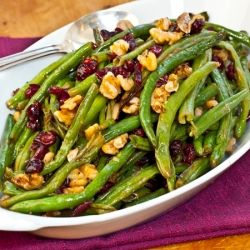 Roasted Green Beans with Cranberries & Walnuts. I like these recipes ...