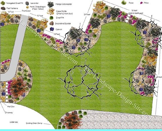 landscaping idea for a big front yard outdoors pinterest