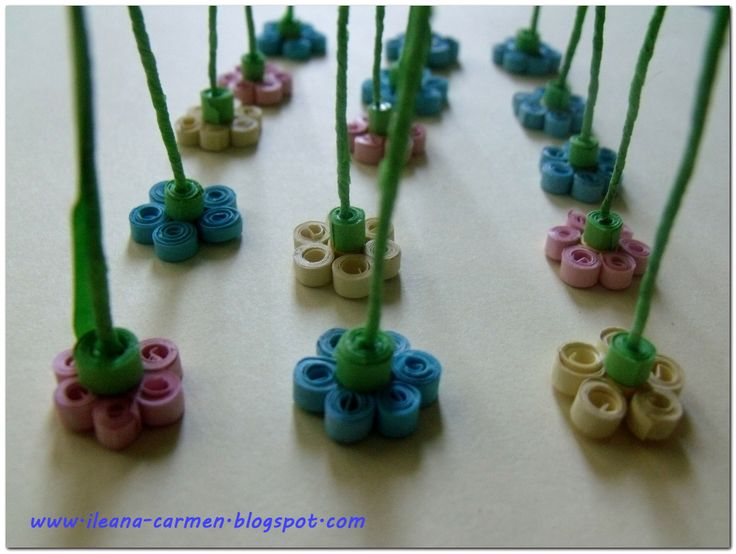 3D Quilling Forget Me Not | QUILLING | Pinterest