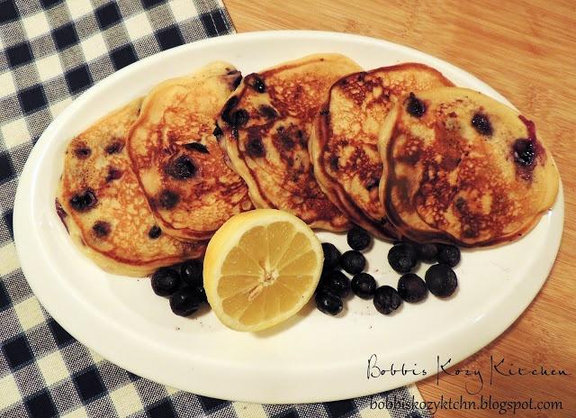 Blueberry Pancakes with Greek Yogurt and Lemon