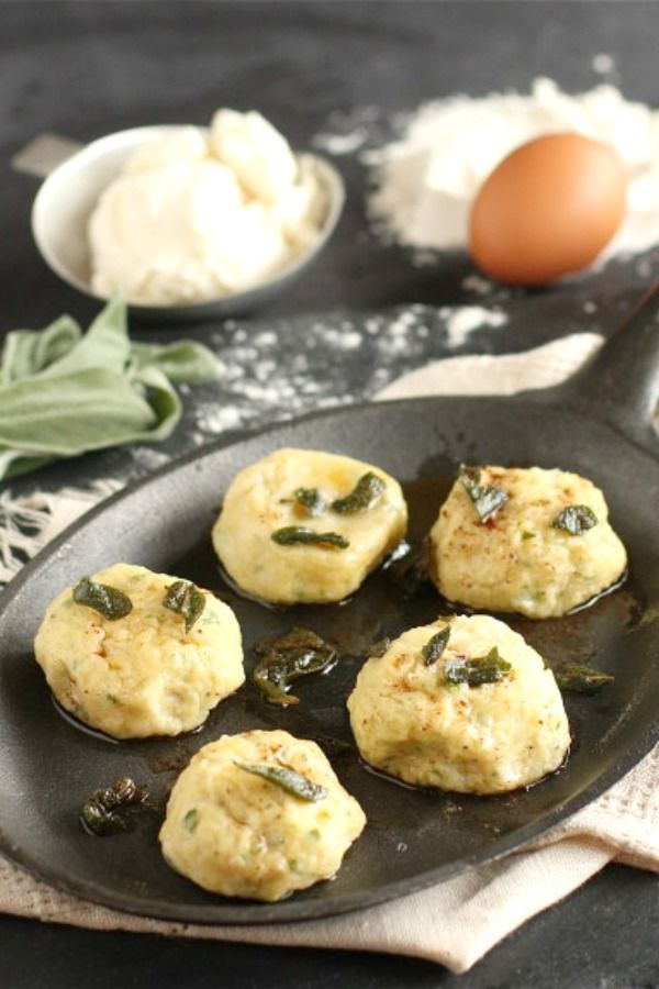Ricotta Gnudi with Sage Brown Butter |The Hopeless Housewife