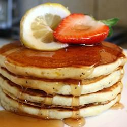 "Morning Lemon Poppy Seed Pancakes | ""I made these with whole wheat ..."
