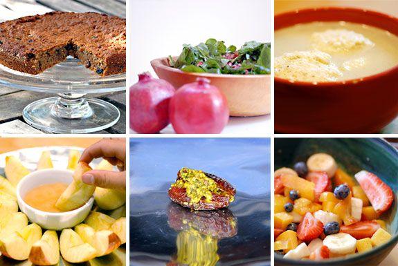 menu for rosh hashanah lunch