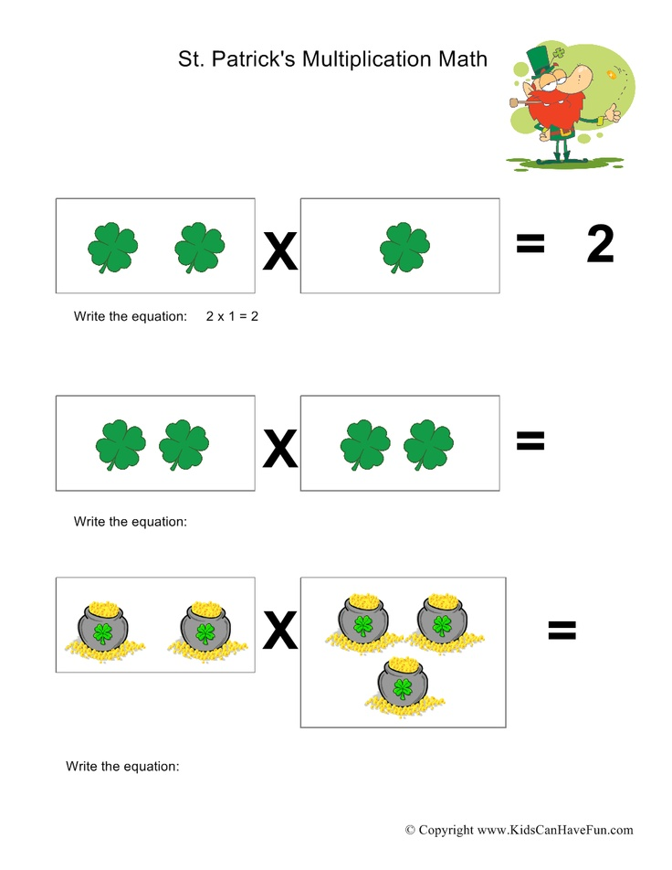 St. Patrick's Day Multiplication Math | St. Patrick's Day Printables ...