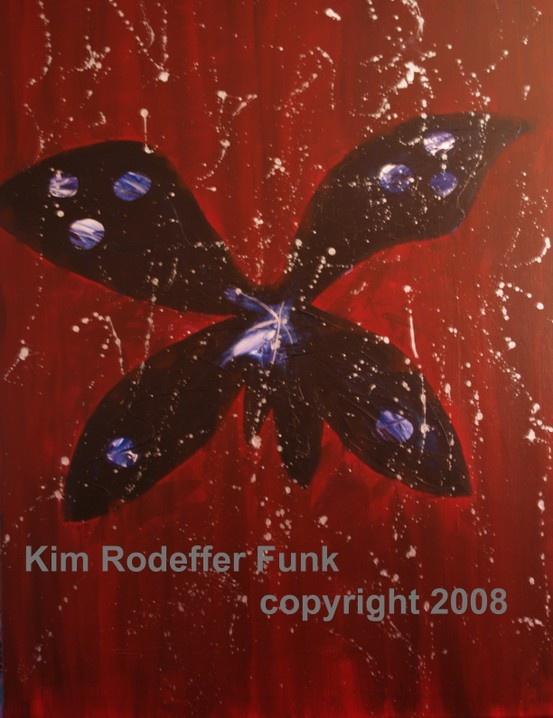 Mariposa. 40x30 inches acrylic on canvas. Artist Kim Rodeffer Funk