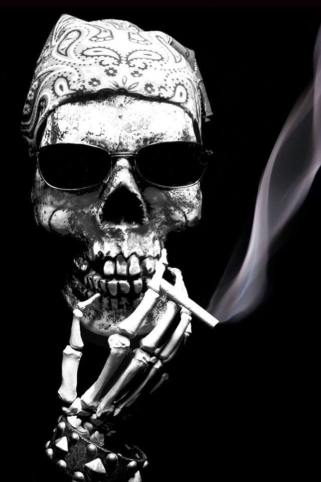 Smoking Skull | Skulls | Pinterest