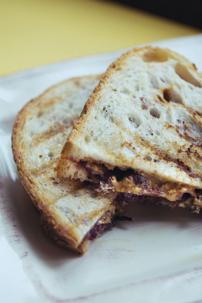 Grilled Peanut Butter And Jelly Sandwich Recipe — Dishmaps
