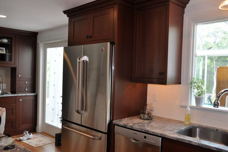 Deep Top Cabinet Over Fridge Kitchen Pinterest