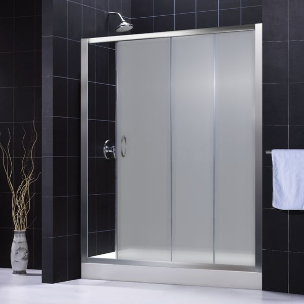 Shower door frosted glass s f pinterest - Bathroom doors with frosted glass ...