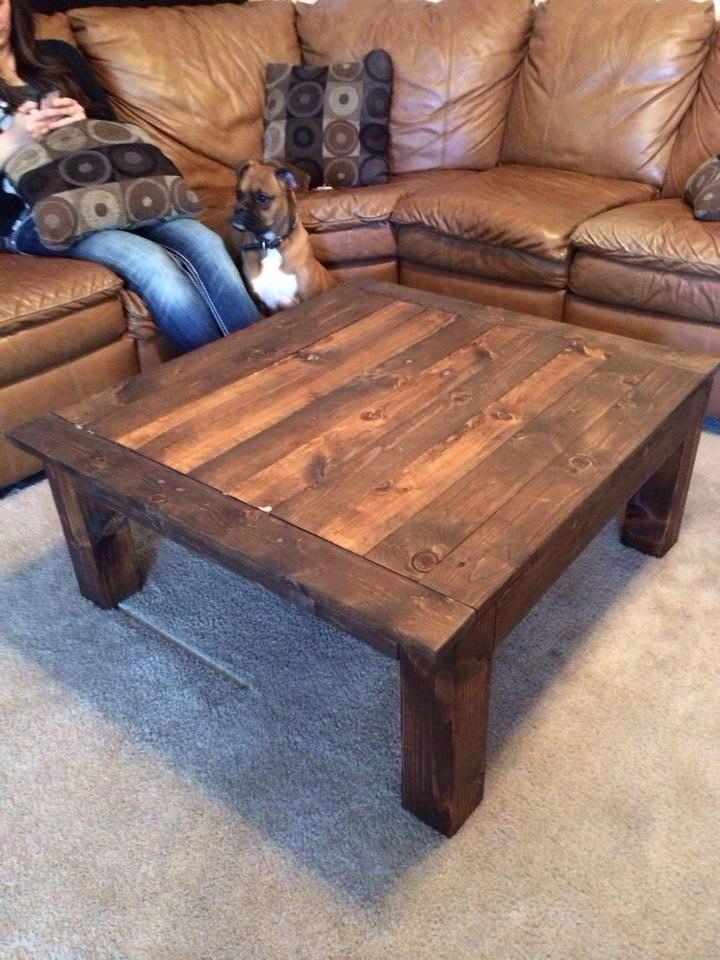 homemade coffee table wood work pinterest