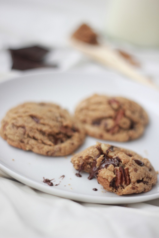 Dark Chocolate and Toasted Pecan Cookies with Browned Butter | Recipe