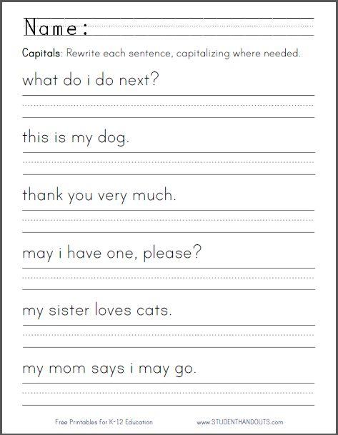 writing worksheets | school | Pinterest