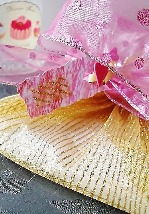 """paquet cadeau by """"les idées cadeaux d'Audrey"""" rose et or pour une pré-ado"""