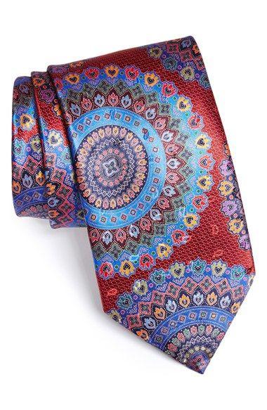 Ermenegildo Zegna 'Quindici' Print Silk Tie | Nordstrom.