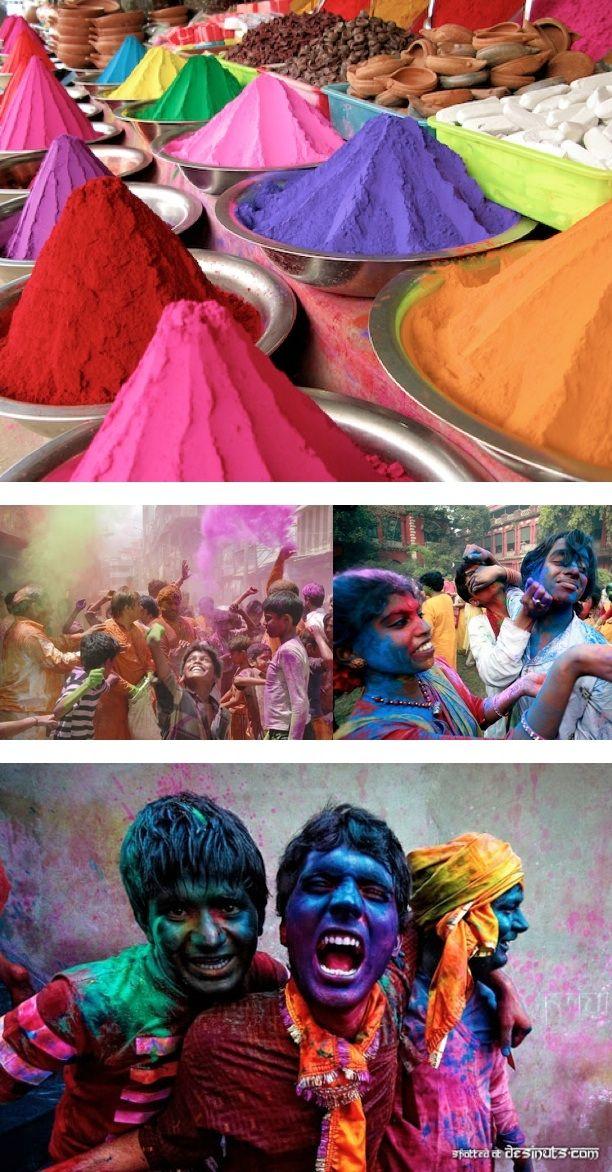 Super bright colours during Holi celebrations