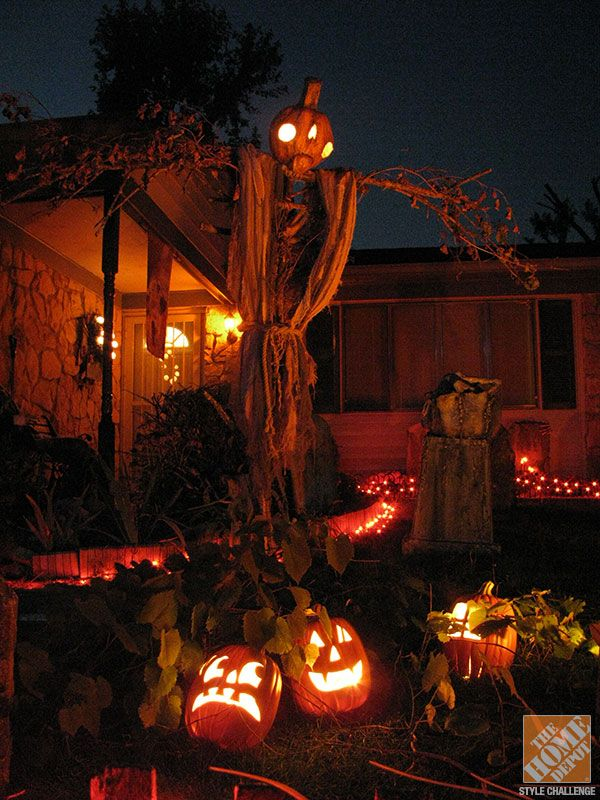 Diy halloween yard decorations halloween decorating pinterest Halloween decorations home depot