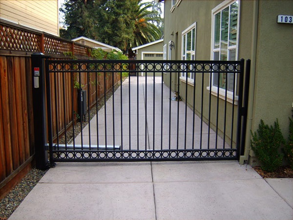 Steel Gate With Motor Installed By Lighthouse Door Company