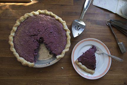 Purple Sweet Potato Buttermilk Pie | pie! | Pinterest