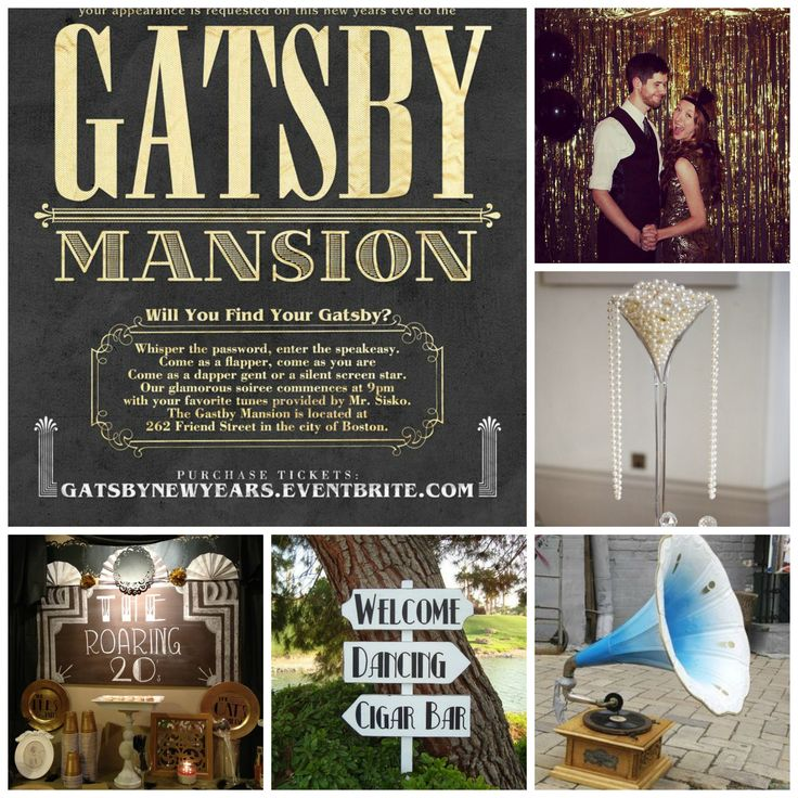 Great gatsby 1920 s themed party great gatsby party pinterest