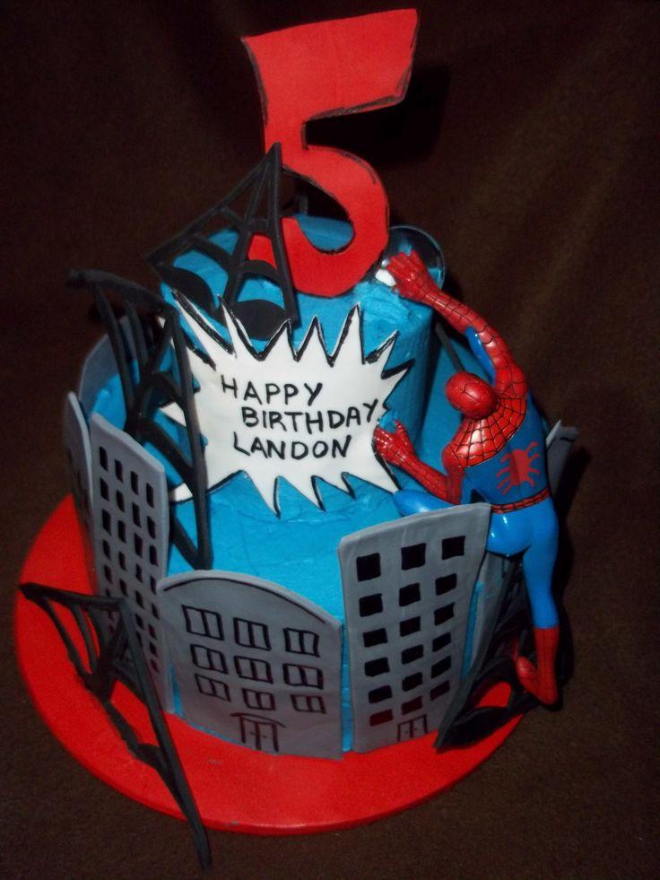 Images Of Spiderman Birthday Cake : Spiderman Birthday Cake #birthdaycake (I like the building ...